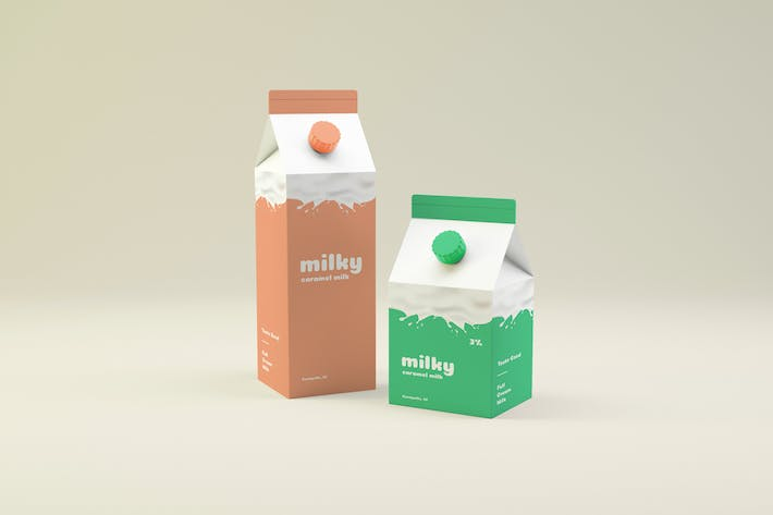 Thumbnail for Milk Packaging Mockup