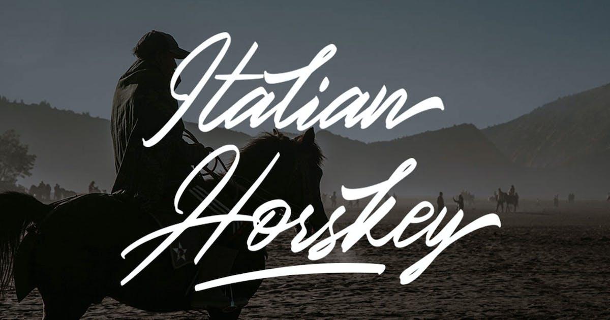 Download Italian Horskey Signature Handlettering Script by putra_khan