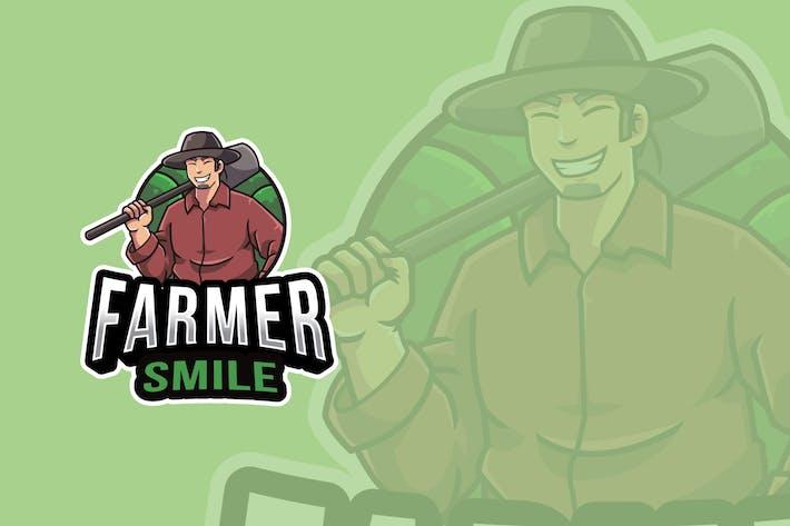 Farmer Smile Logo Template