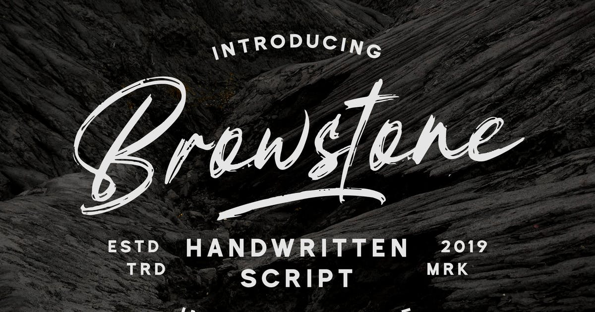 Download Browstone - Brush Script Font by naulicrea