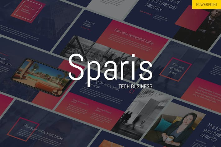 Thumbnail for Sparis - Tech Business Powerpoint Template