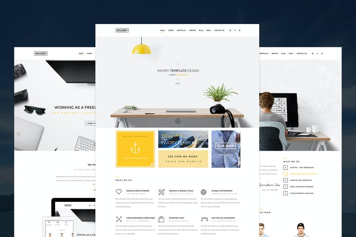 Thumbnail for Invory - Multi Purpose PSD Template