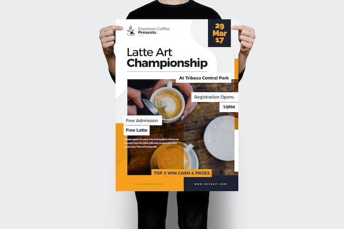 Latte Art Championship Flyer