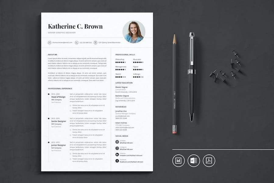 Professional CV Resume Indesign Template Vol.36