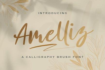 Amelliz - Calligraphy Brush Font