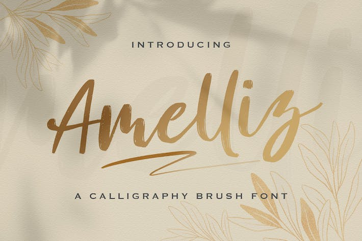 Thumbnail for Amelliz - Calligraphy Brush Font