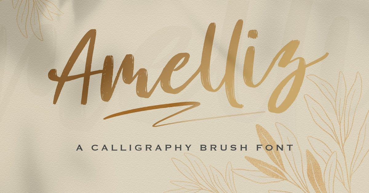 Download Amelliz - Calligraphy Brush Font by StringLabs