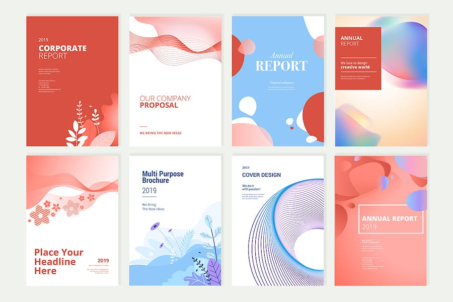 Beauty brochure, annual report, cover designs