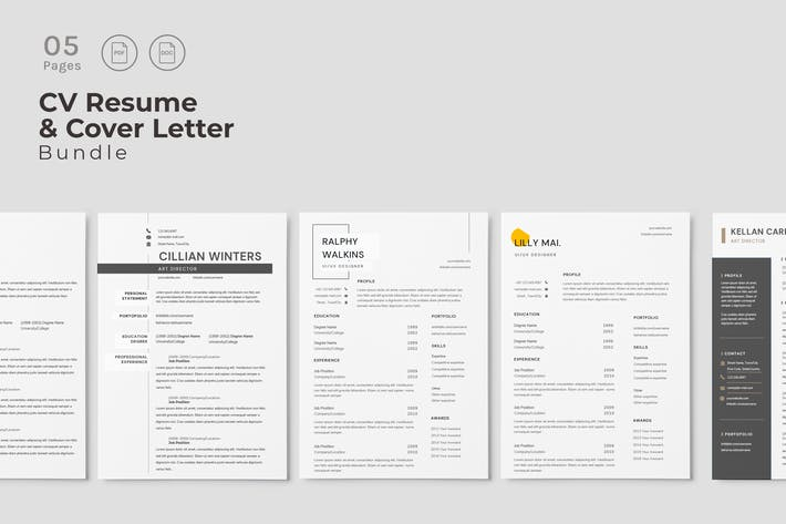 Cover Image For Minimalist CV Resume Design