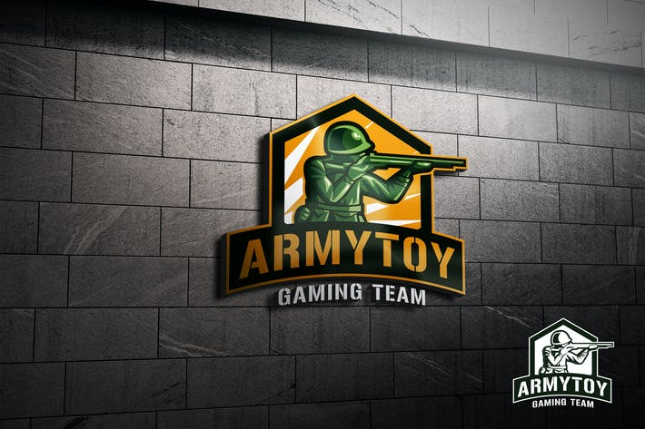 Thumbnail for Army Toy Soldier Mascot Esports or Sports Logo