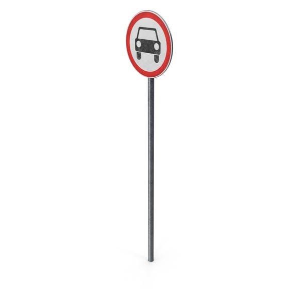 European Road Sign No Motor Vehicles