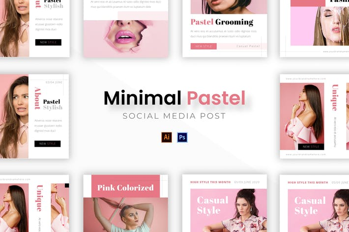 Thumbnail for Minimalist Pastel Socmed Post