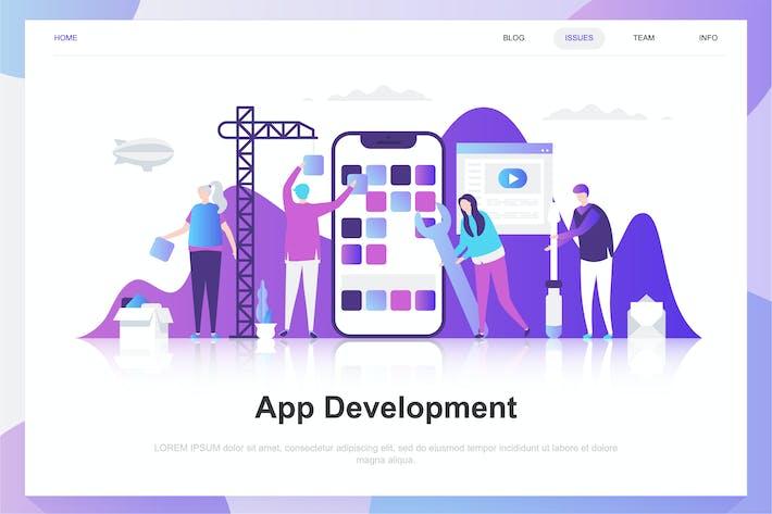Cover Image For App Development Flat Concept