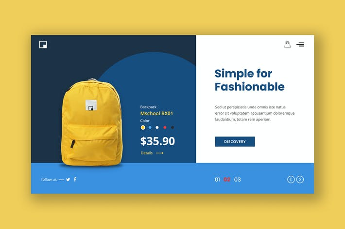 Thumbnail for Sporty Bag Hero Header Template