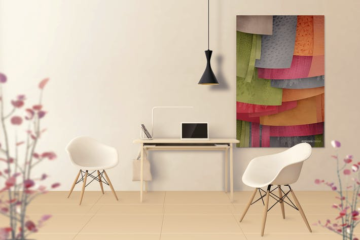 Thumbnail for Art Wall Mockups - Interior Work Desk