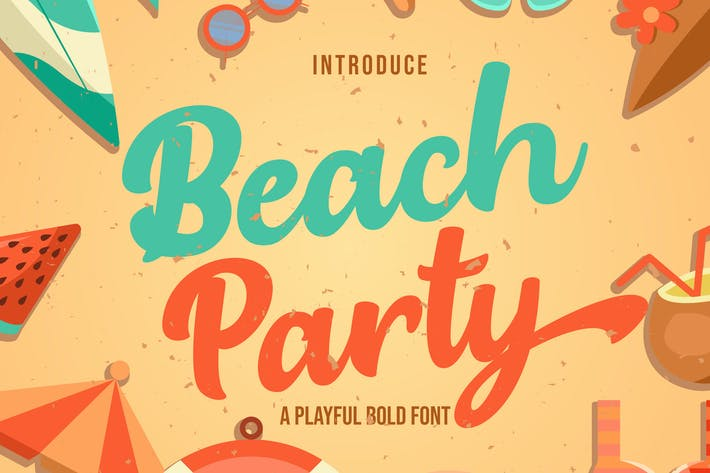 Thumbnail for Beach Party - Playful Bold Font