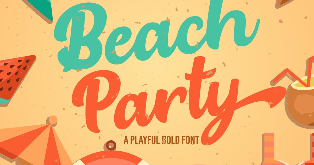 Download Beach Party - Playful Bold Font by IanMikraz