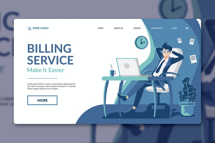 Thumbnail for Billing Service Landing Page