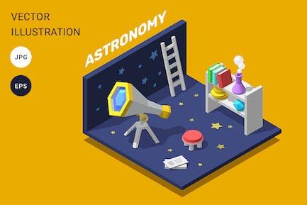 3d astronomy room