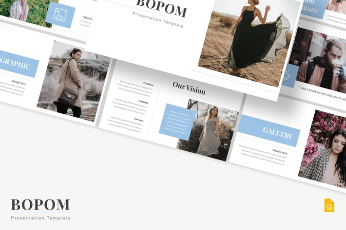 Thumbnail for Bopom - Шаблон слайдов Google