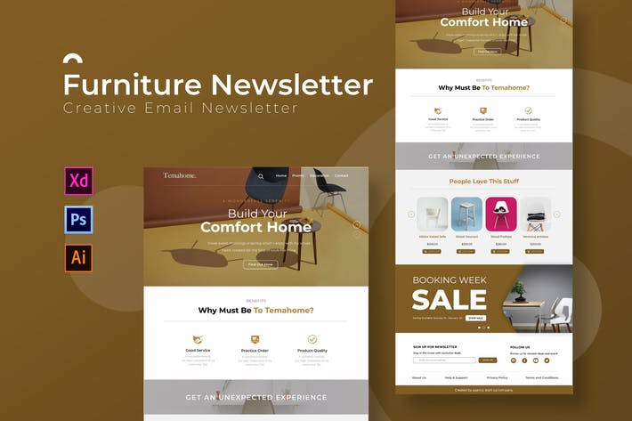 Thumbnail for Furniture | Newsletter Template