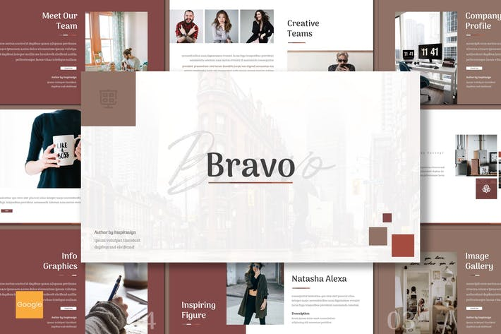 Thumbnail for Bravo - Creative Google Slides Template