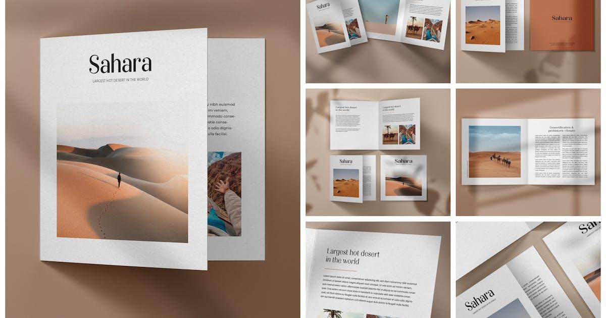 Download Square Bifold Brochure Mockup Set by deeplabstudio