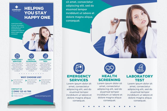 Thumbnail for Helping You Stay Happy One Flyer Roll Up Banner