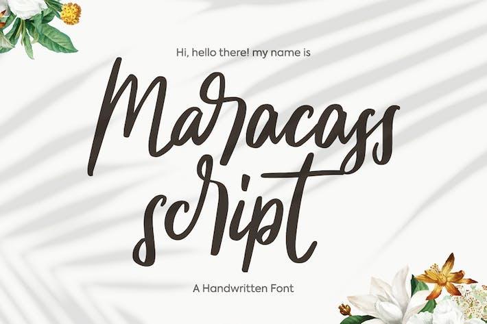 Thumbnail for maracass script font