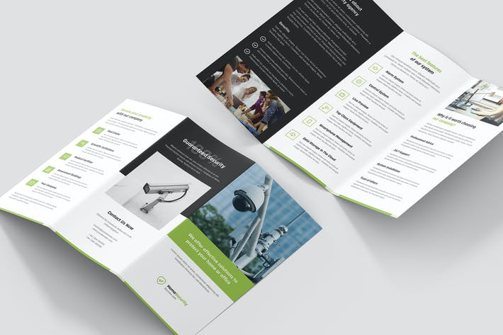 Thumbnail for Brochure – Home Security Tri-Fold