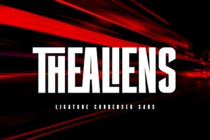 Thealiens - Ligature Condensed Sans