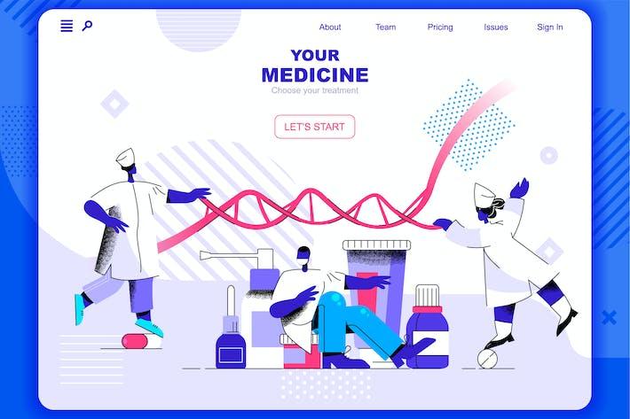 Thumbnail for Cabecera de página de inicio de Medicine Flat Concept