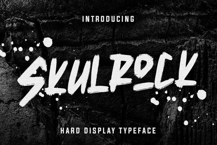 Thumbnail for Skulrock Hard Display Typeface