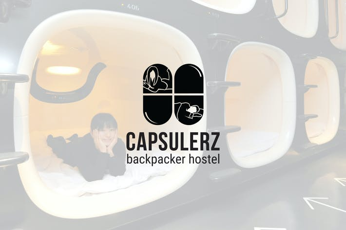 Cover Image For Capsulerz : Backpacker Hostel Logo