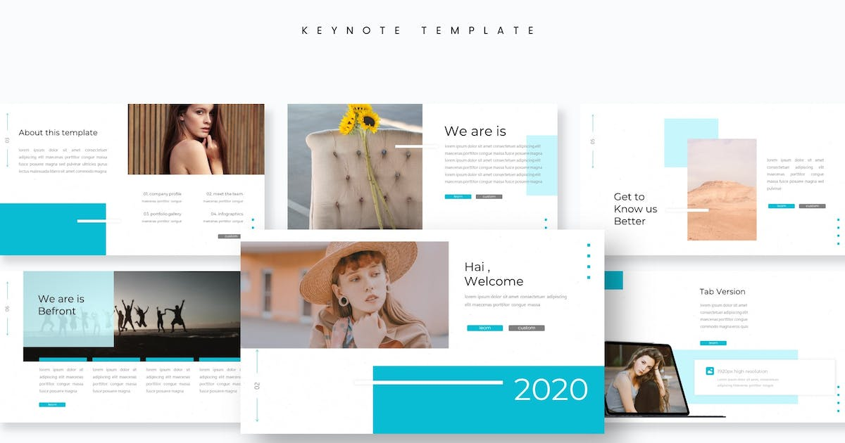 Download Befront - Keynote Template by aqrstudio