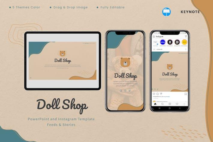 Doll Shop - Keynote & Instagram Template