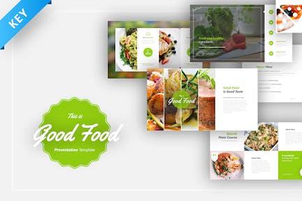 Good Food Keynote Presentation Template