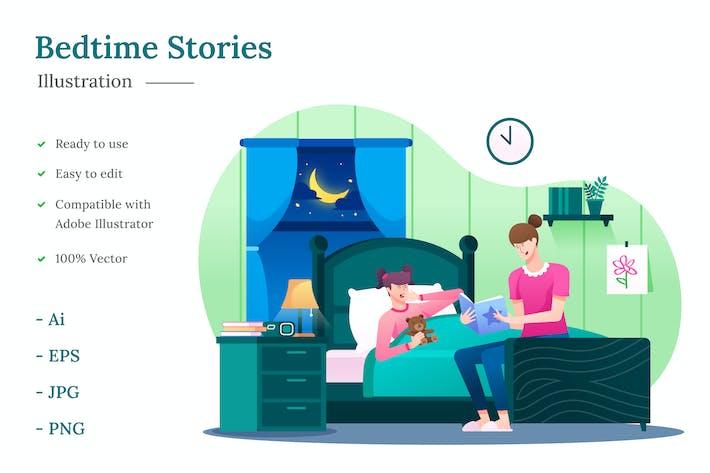 Thumbnail for Illustration des histoires de coucher