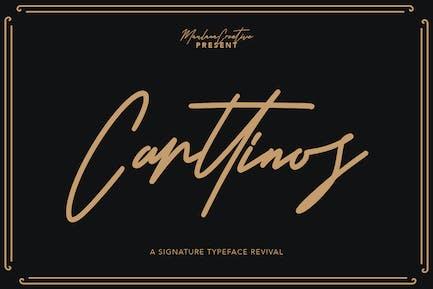 Tipo de letra de la firma de Carttinos