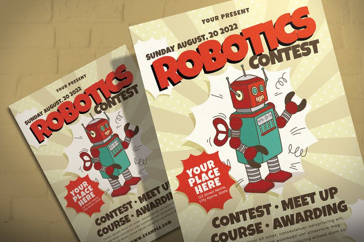 Thumbnail for Retro Robotic - Flyer Template