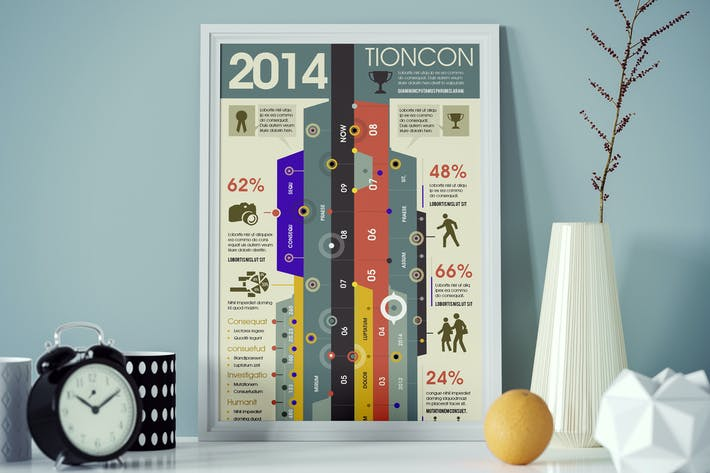Cover Image For Timeline Infographics Template