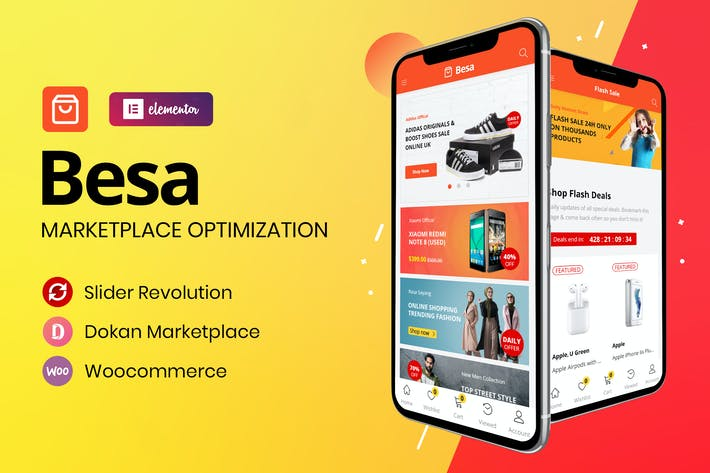 Cover Image For Besa - Elementor Marketplace WooCommerce Theme