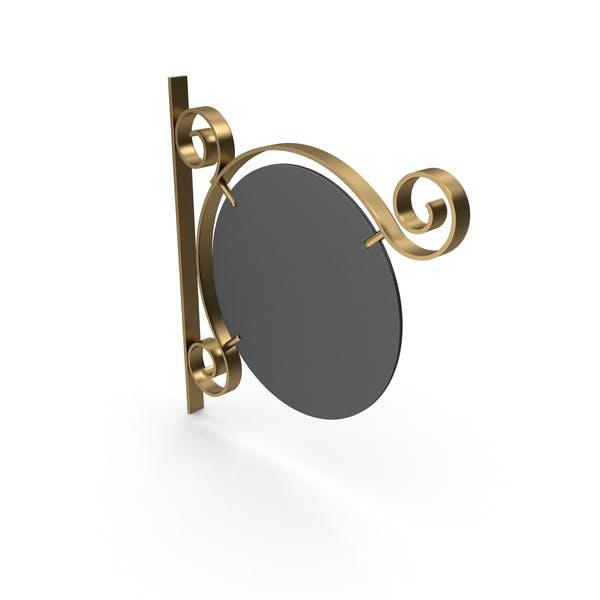 Золотая металлическая и черная рамка вывеска