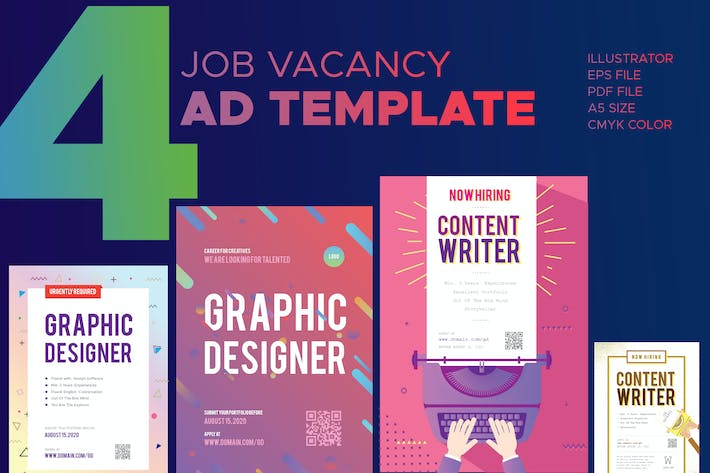 Thumbnail for Job Vacancy Advertisement Template