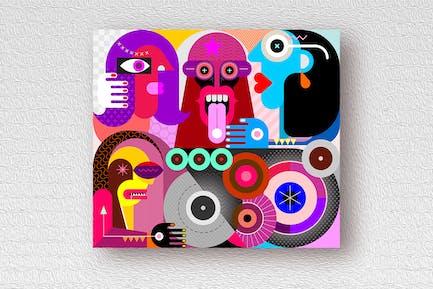 People Use Drugs vector illustration