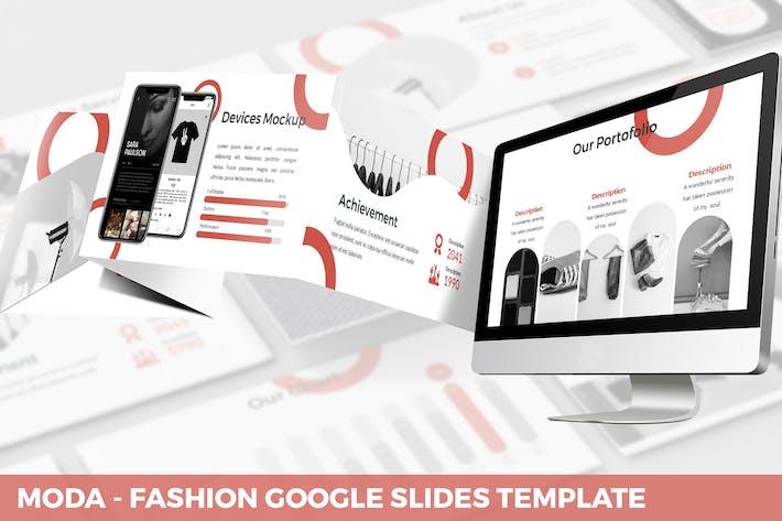 Thumbnail for Moda - Fashion Google Slides Template