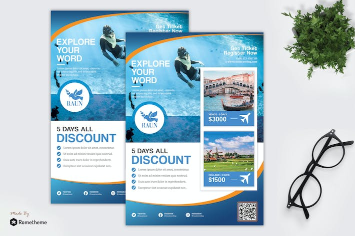 Thumbnail for Raun - Holiday and Tour Travel Flyer HR