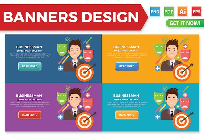 Thumbnail for Businessman banners design