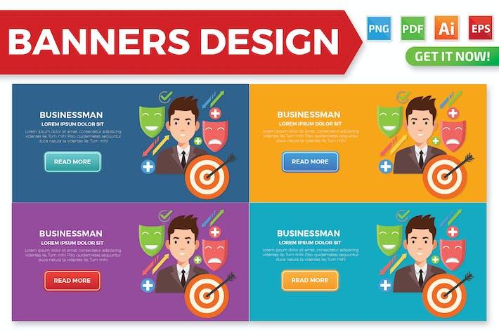 Thumbnail for Diseño de banners para hombre de negocios