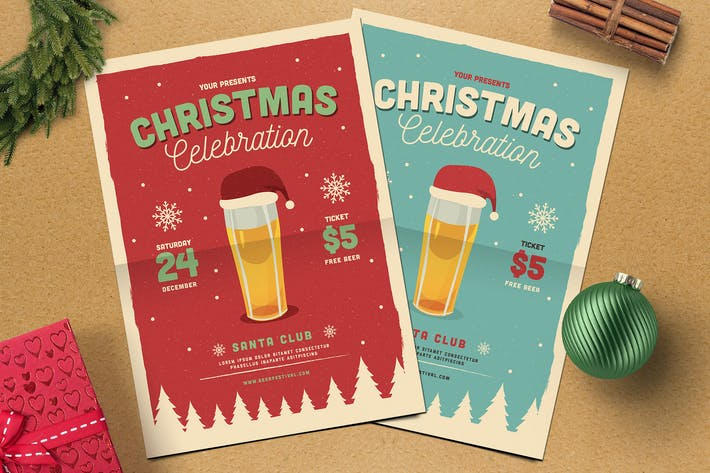 Thumbnail for Christmas Beer Party Flyer